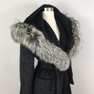 Neiman Marcus Isaac Mizrahi Vintage Wool Fur Coat